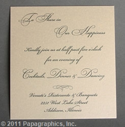 Brussels Reception Card
