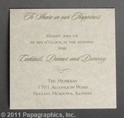 Florence Reception Card