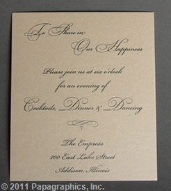 Paris Reception Card