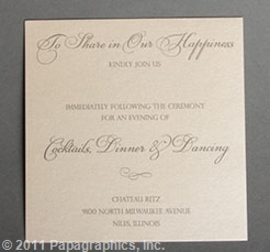 Athens Reception Card