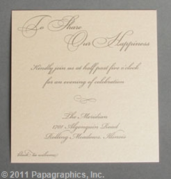St. Tropez Reception Card