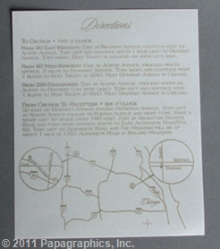 Florence Info/Direction Card